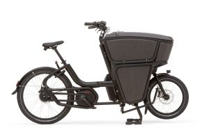 Urban Arrow Shorty Electric Cargo Business Bike in black side view