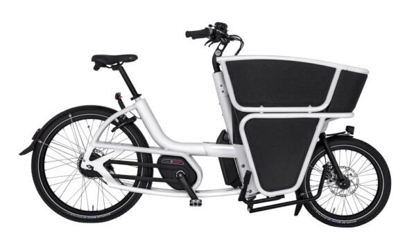 Urban Arrow Shorty Electric Cargo Business Bike in white side view