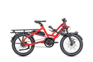 Tern HSD p9 Folding Bike Electric Bike in Red folded