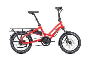 Tern HSD p9 Folding Bike Electric Bike in Red side view