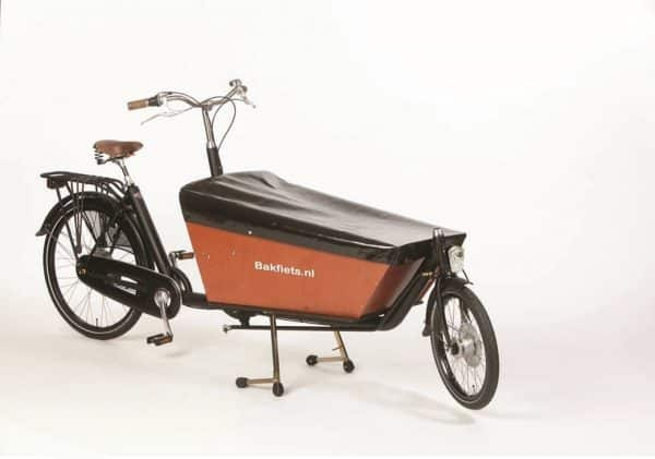 box cover accessory for bakfiets in black