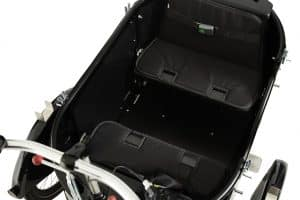 nihola cargo bike bench seat shown from above