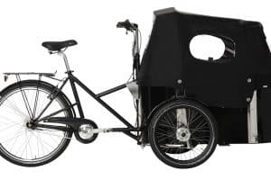 nihola cargo bike side view with canopy