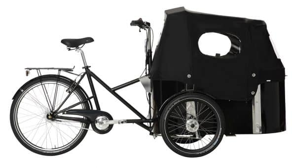 Nihola Rehab Cargo Bike shown with canopy fitted