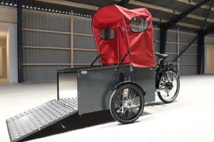 Nihola Flex Disabled Bike shown with door open