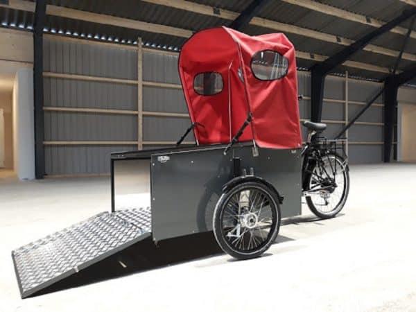 Nihola Flex Disabled Bike shown with door open