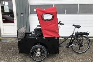 Nihola Flex disabled bike shown with door closed