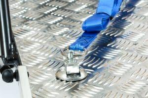 nihola cargo bike flex straps for wheelchair shown