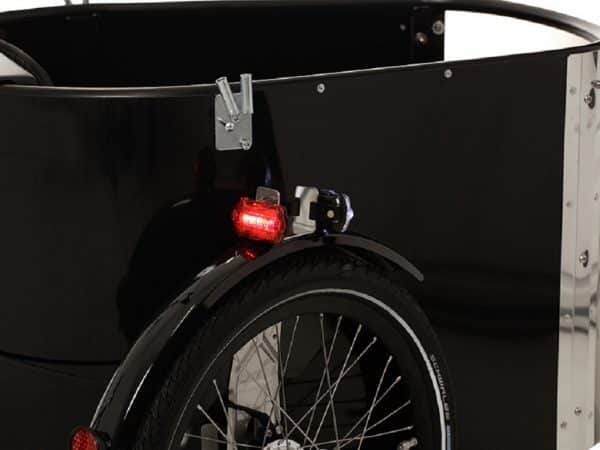 nihola cargo bike lights shown fitted
