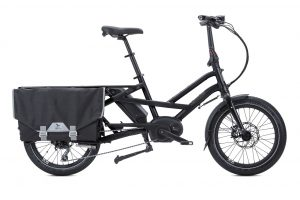Tern GSD folding bike electric bike in black side view