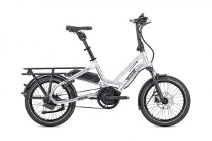 Tern HSD S+ folding bike side view silver