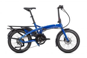 Tern Vektron Q9 Folding Bike in Blue Side View