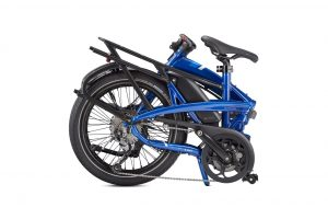 Tern Vektron Q9 Folding Bike in Blue Shown Folded