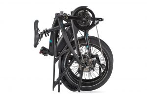 Tern Vektron S10 folding bike shown folded