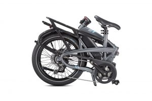 Tern Vektron p7i folding bike shown folded