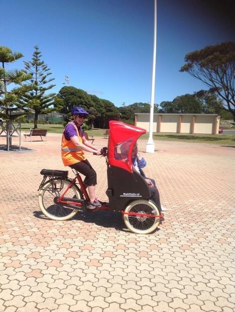 Bakfiets taxi in tasmania
