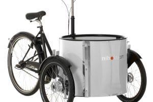 Dutch cargo Bike Nihola Low Instep White